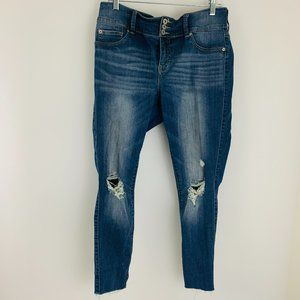 Torrid Distressed Ultra Stretchy Jegging Jeans 14R